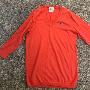 EUC Lacoste orange sweater sz 36